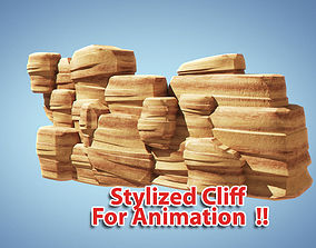 3D model Stylized Cliff