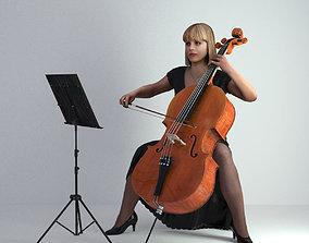 woman 3D Scan Woman Musician 005