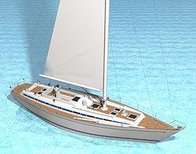 Swan 55 Sailboat 3D