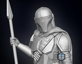 Mandalorian Figurine Season 2 - Pose 1 3D printable model