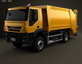 Iveco Trakker Garbage Truck 2-axis 2012 3D model