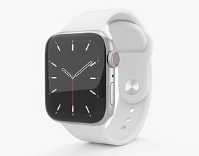 Apple Watch Series 5 40mm Silver Aluminum Case 3D model 2
