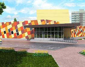 Shop Building 3 3D