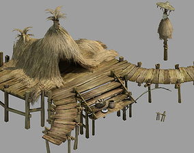 Game Building - Underwater Thatched Cottage 3D model
