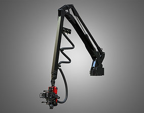 Forwarder Crane Coordinate System with Harvester Head 3D
