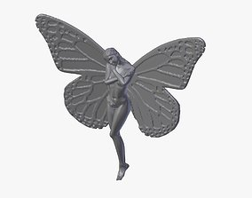 butterfly woman 3D printable model
