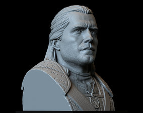 Geralt of Rivia from The Witcher portrait 3D print model