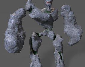 Stone golem 3D asset realtime