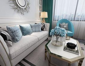 3D model Livingroom Scene sofa