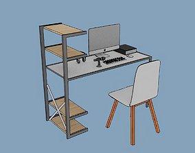 Stylized desk set up for Daz 3d and blender realtime