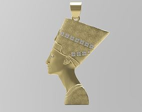 Nefertiti Pendant - Egypt - Jewelry - 3D printable model