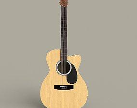 Acoustic Guitar -Cutaway 3D model