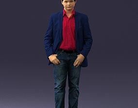 Boy in blue jacket 0080 3D Print Ready