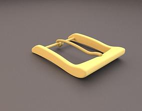 3D Brass Belt Buckle