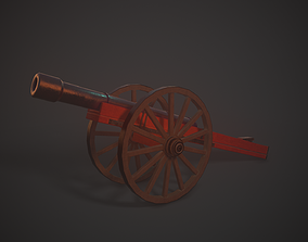 Stylized Medieval Cannon 3D model