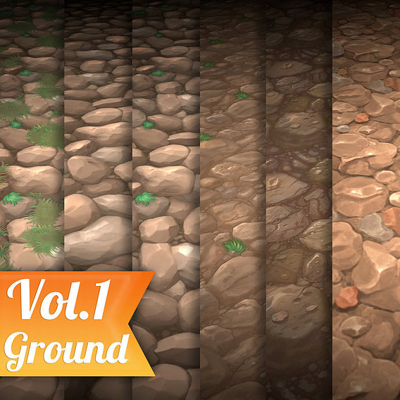 Rock Vol.1 - Hand Painted Texture Pack