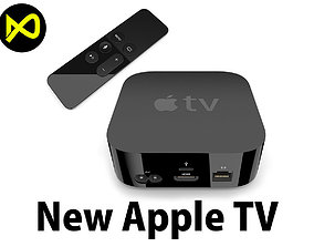 New Apple TV Set 3D model