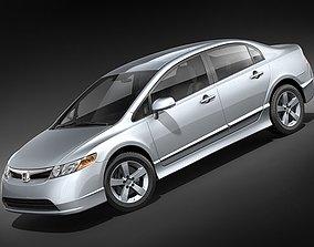 Honda Civic 2008 Sedan 3D Model