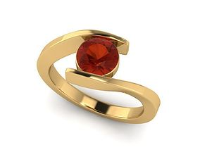 Solitaire Ring R005 3D print model