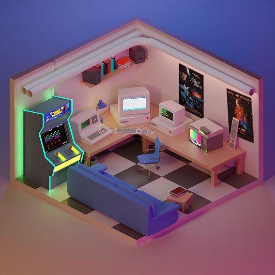 90's Retro Gaming Room
