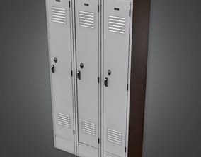 3D asset HSG - School Gym Lockers - PBR Game Ready