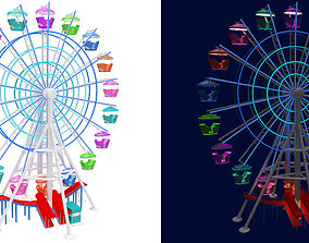 3D model Ferris wheel day and night