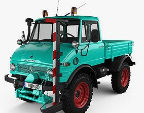 Mercedes-Benz Unimog 421 Mower 1966 3D model