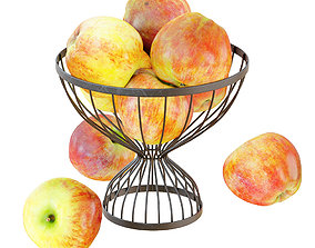 Apples In A Round Metal Vase 3D