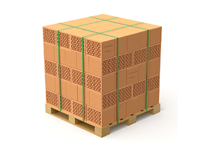 3D model Hollow Clay Blocks and Wooden Pallet