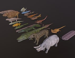 3D model Extinct animals pack v4