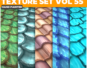 Roof Vol 55 - Game PBR Textures 3D model