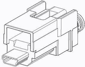 111014-9000 Molex USB connector 3D printable model