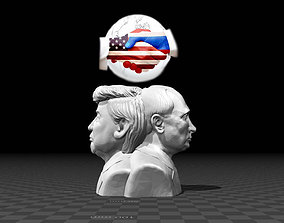 3D printable model Bust of Worlds Greatest Leaders