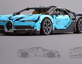 3D animated bugatti lego toys model