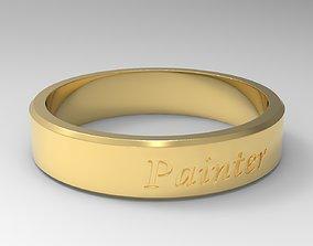 Painter Ring Gold 3D printable model