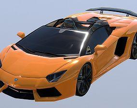 realtime Lamborghini Aventador S Roadster 3D Model