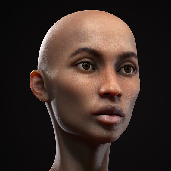 Black skinny woman