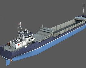 General Cargo Ship DAMEN COMBI COASTER open bay 3D model