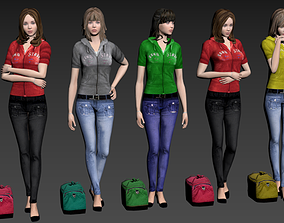 3D Female collection stand3