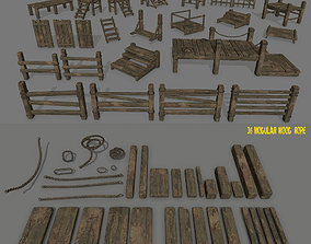 wood and rope 3D model