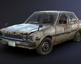 3D asset Toyota Corolla Rusty
