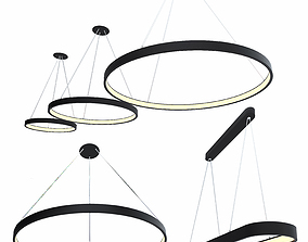 Ceiling lamps set 016 3D model
