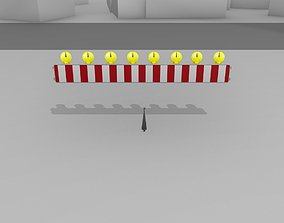 Construction Barrier 6 with animated 3D model 2