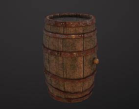 Medieval Wine Barrel Sample of The Dwarf Dungeon 3D model