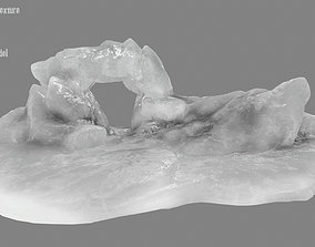 Ice Cave 3D model low-poly