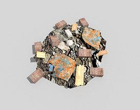 Debris Pile 3D model realtime