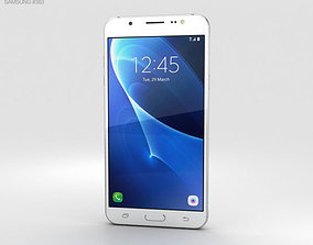 Samsung Galaxy J7 2016 White 3D