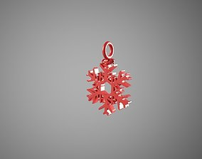 3D print model snowflake for Christmas tree