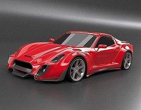 Retrone sportscar concept 3D model