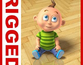3D model Boy cartoon rigged 01